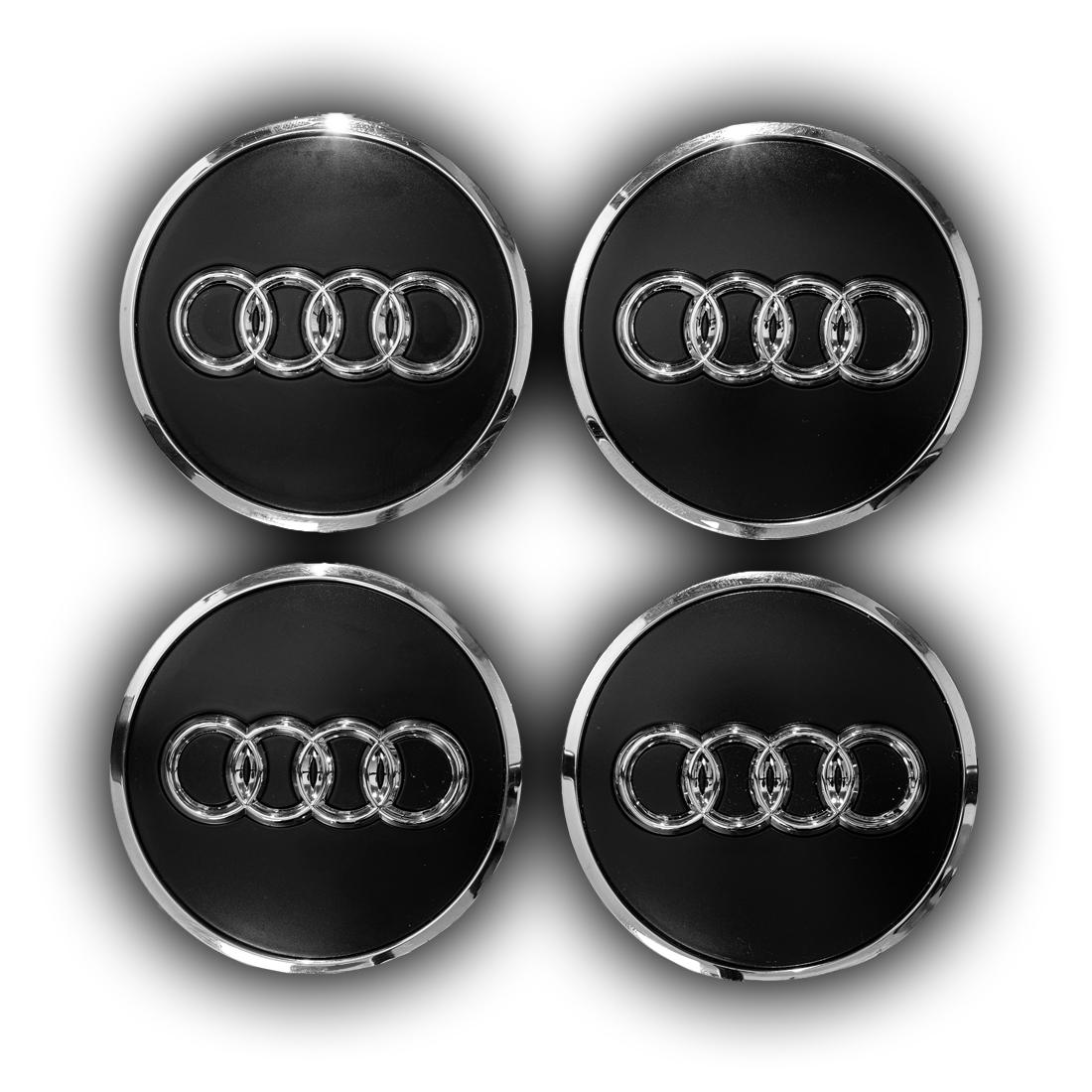 Audi Radzierkappe Felgendeckel Nabendeckel glänzend 4er Set