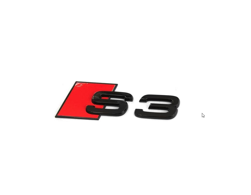 Audi Modellbezeichnung in Schwarz Heck S3