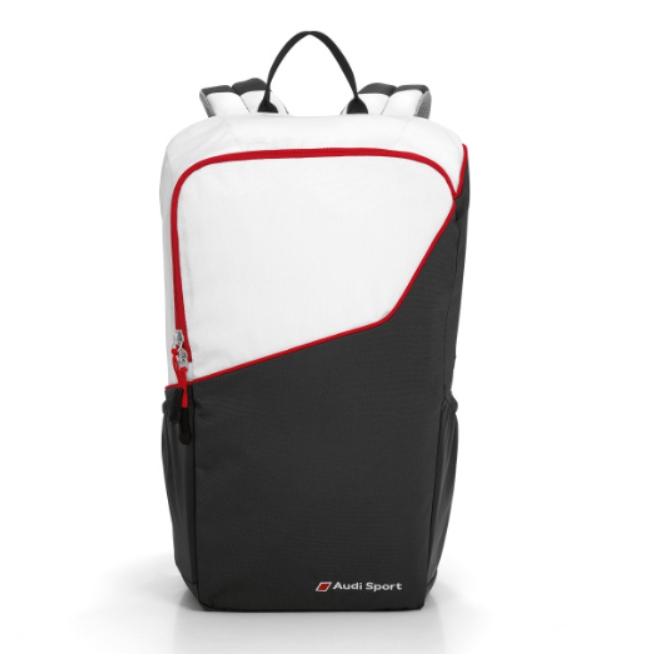 Audi Sport Rucksack schwarz/weiß/rot