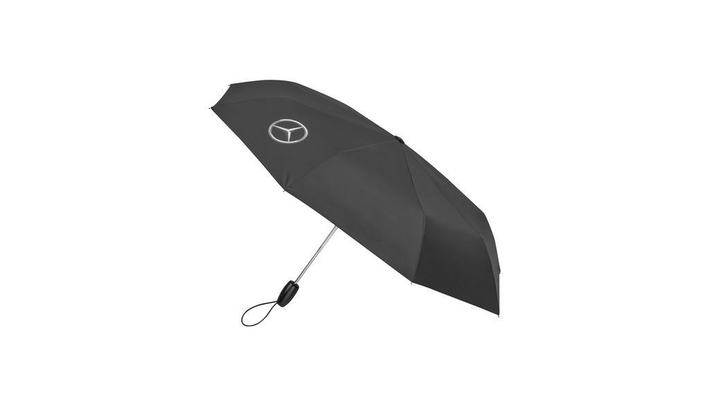 Mercedes-Benz Taschenschirm Regenschirm schwarz