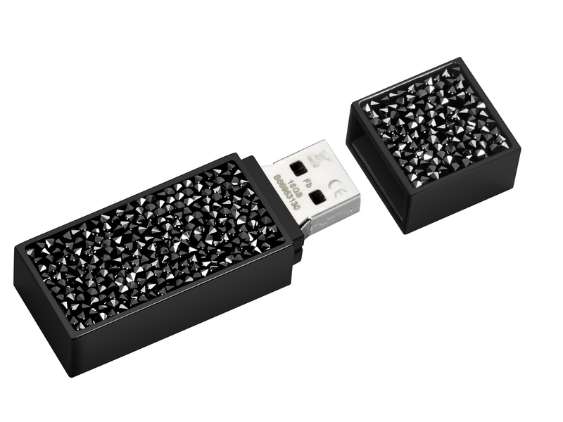 Mercedes-Benz USB-Stick Black Edition mit Swarovski® Crystal Fine Rocks