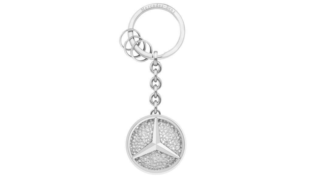 Mercedes-Benz Schlüsselanhänger St. Tropez weiß Swarovski® Crystal