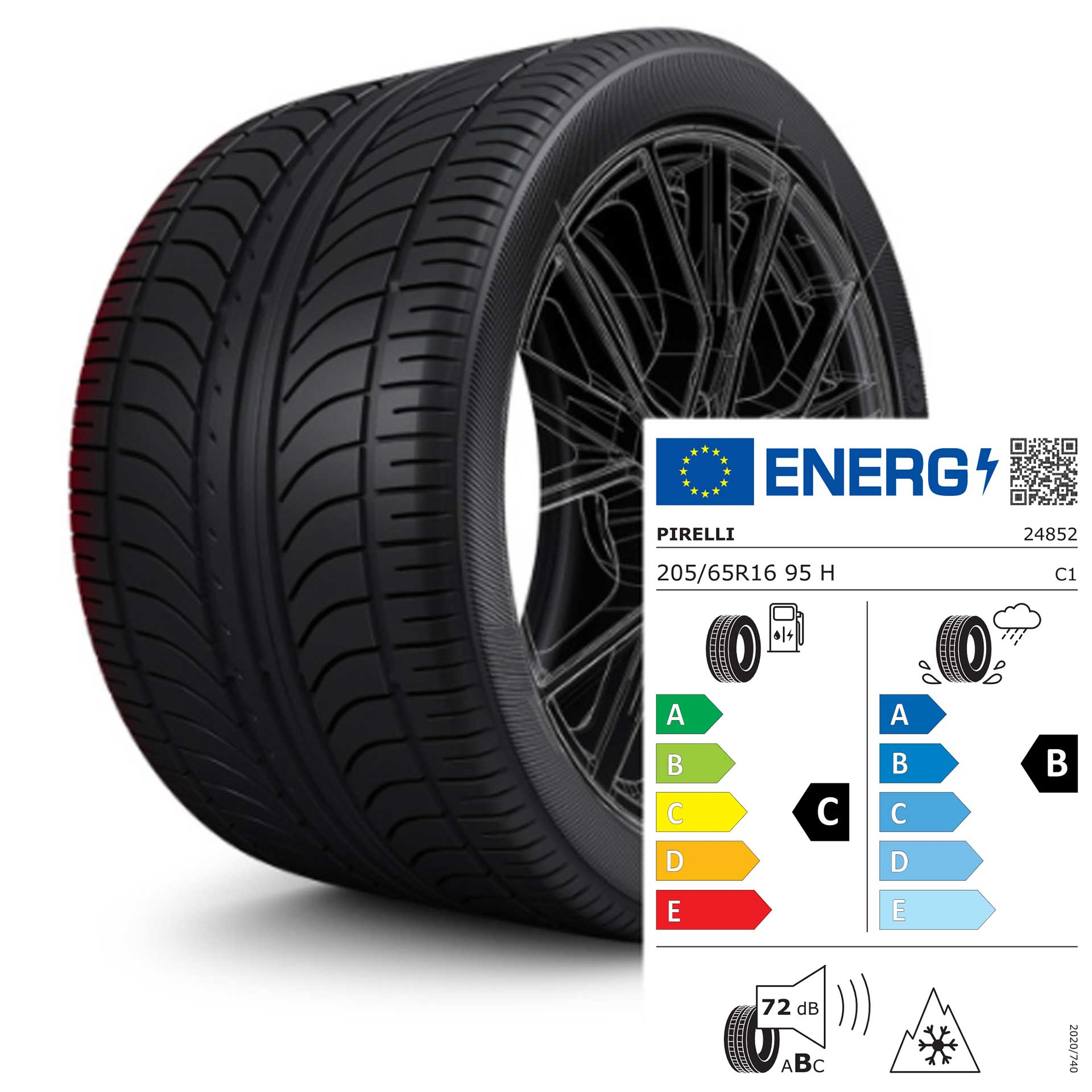 205/65 R16 95H Pirelli Winter SottoZero 3 MO - Winterreifen