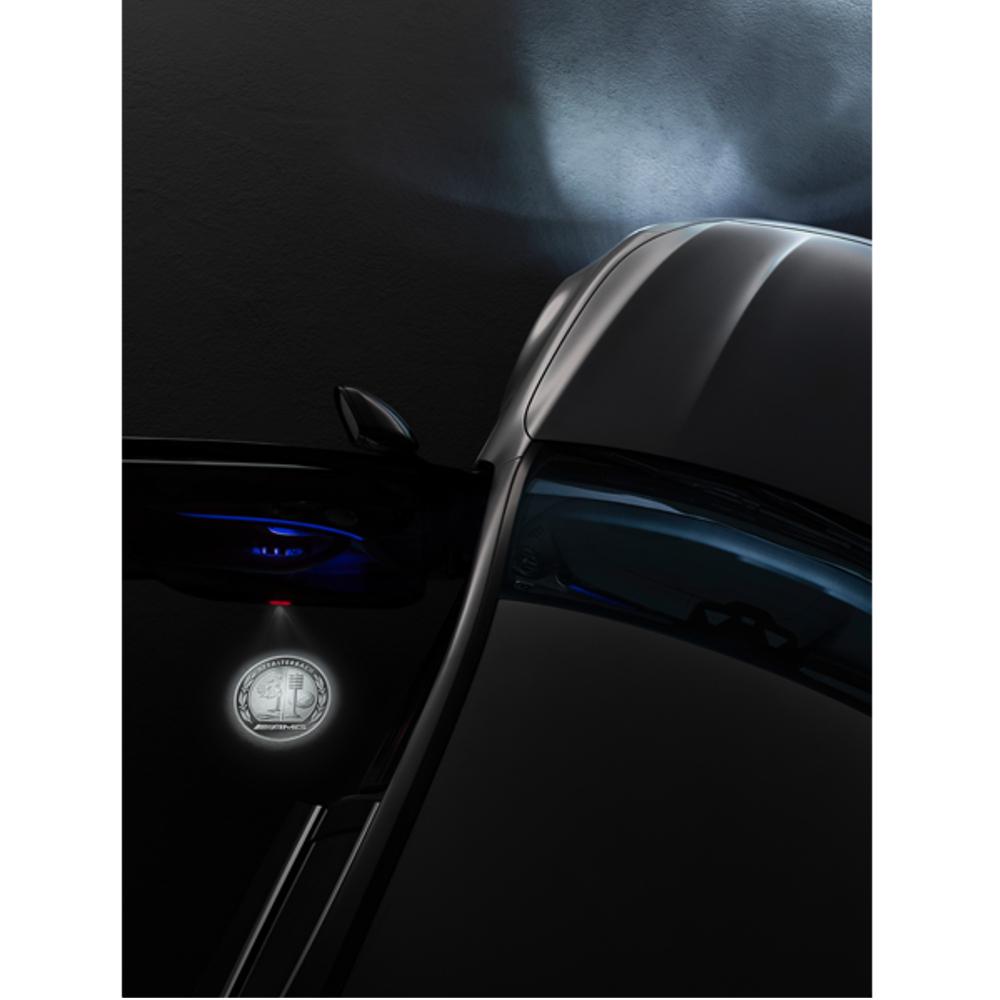 Mercedes-AMG LED Projektor AMG Wappen
