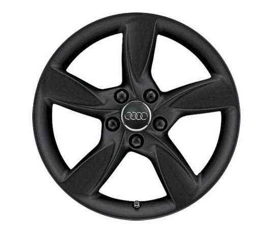 Audi Winter-Aluminium-Gussrad 6J x 17 mattschwarz im 5-Arm-Helica-Design