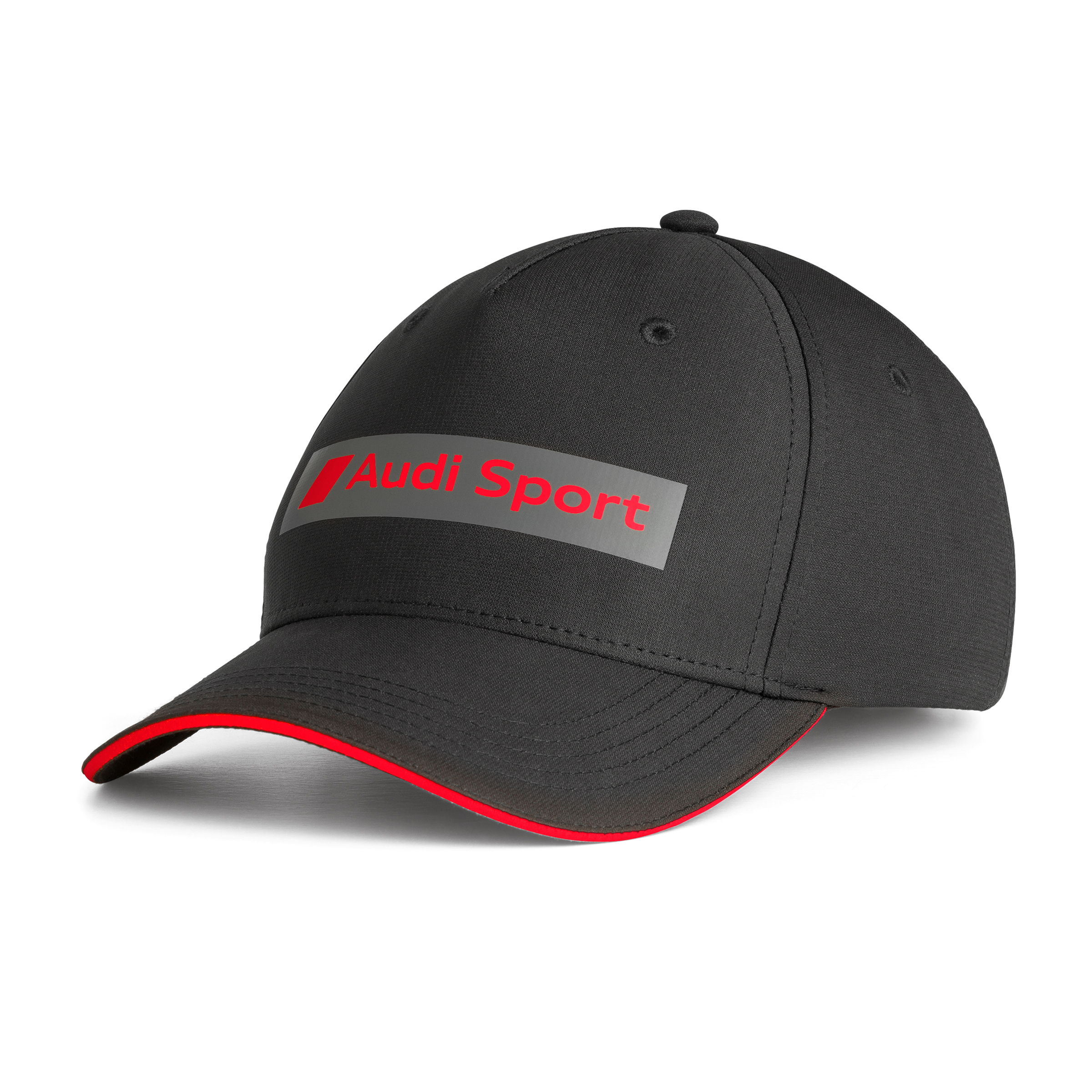 Audi Sport Cap Kappe Basecap schwarz rot