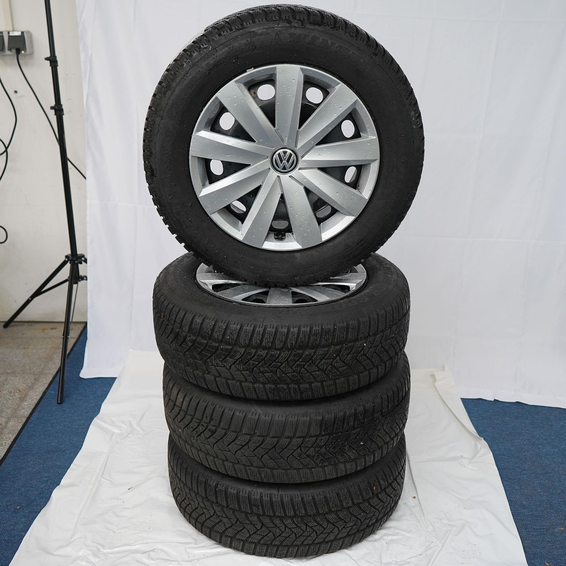 Gebrauchter 16 Zoll Original Volkswagen Winterkomplettrad-Satz VW Passat Dunlop