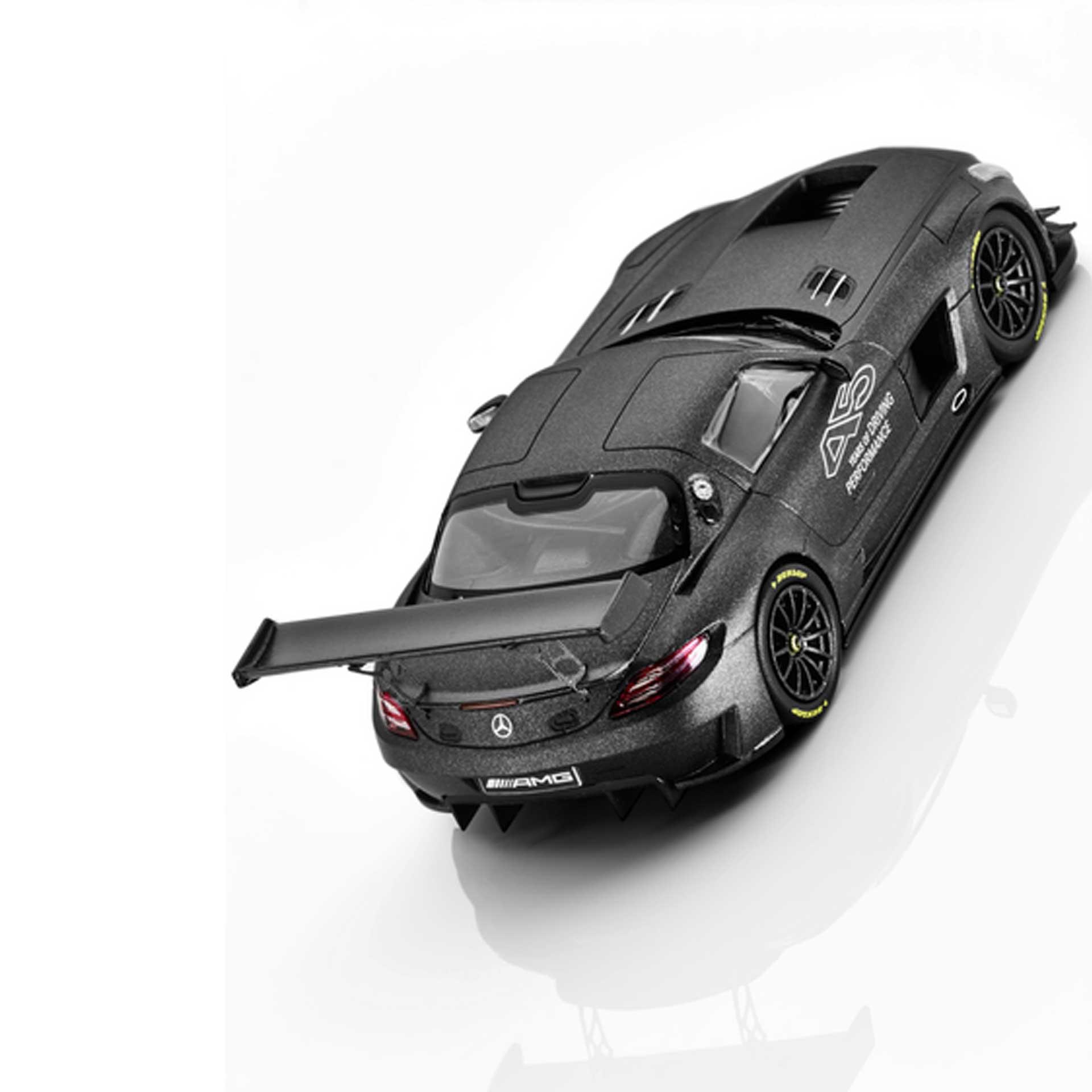 Mercedes-AMG Modellauto SLS AMG GT3 45 Jahre AMG schwarz matt 1:43
