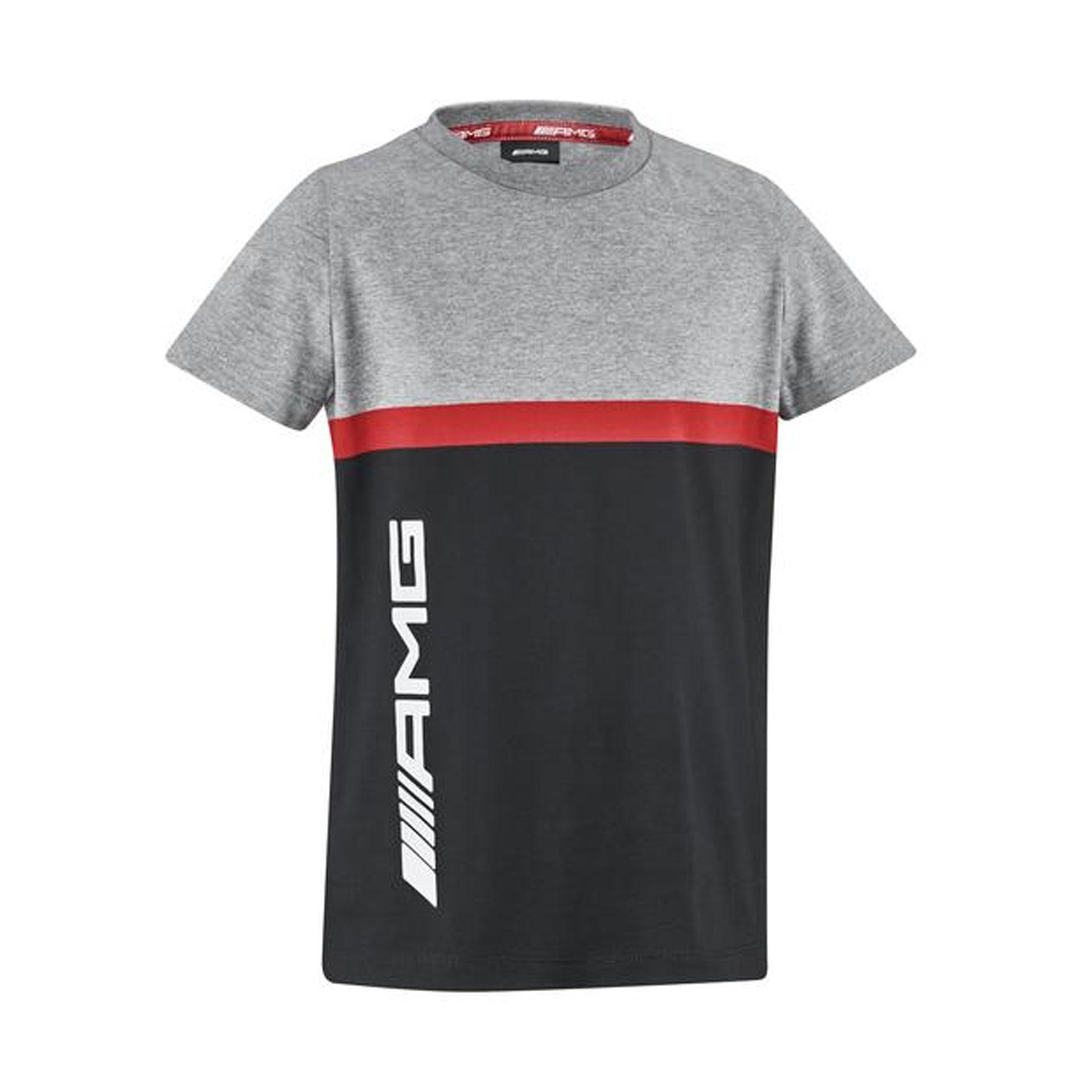 Mercedes-AMG T-Shirt Kinder grau schwarz rot