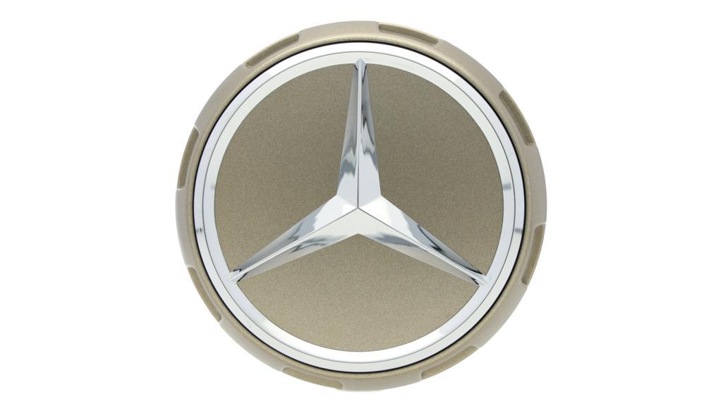 Mercedes-AMG Radnabenabdeckung Zentralverschlussdesign goldfarben