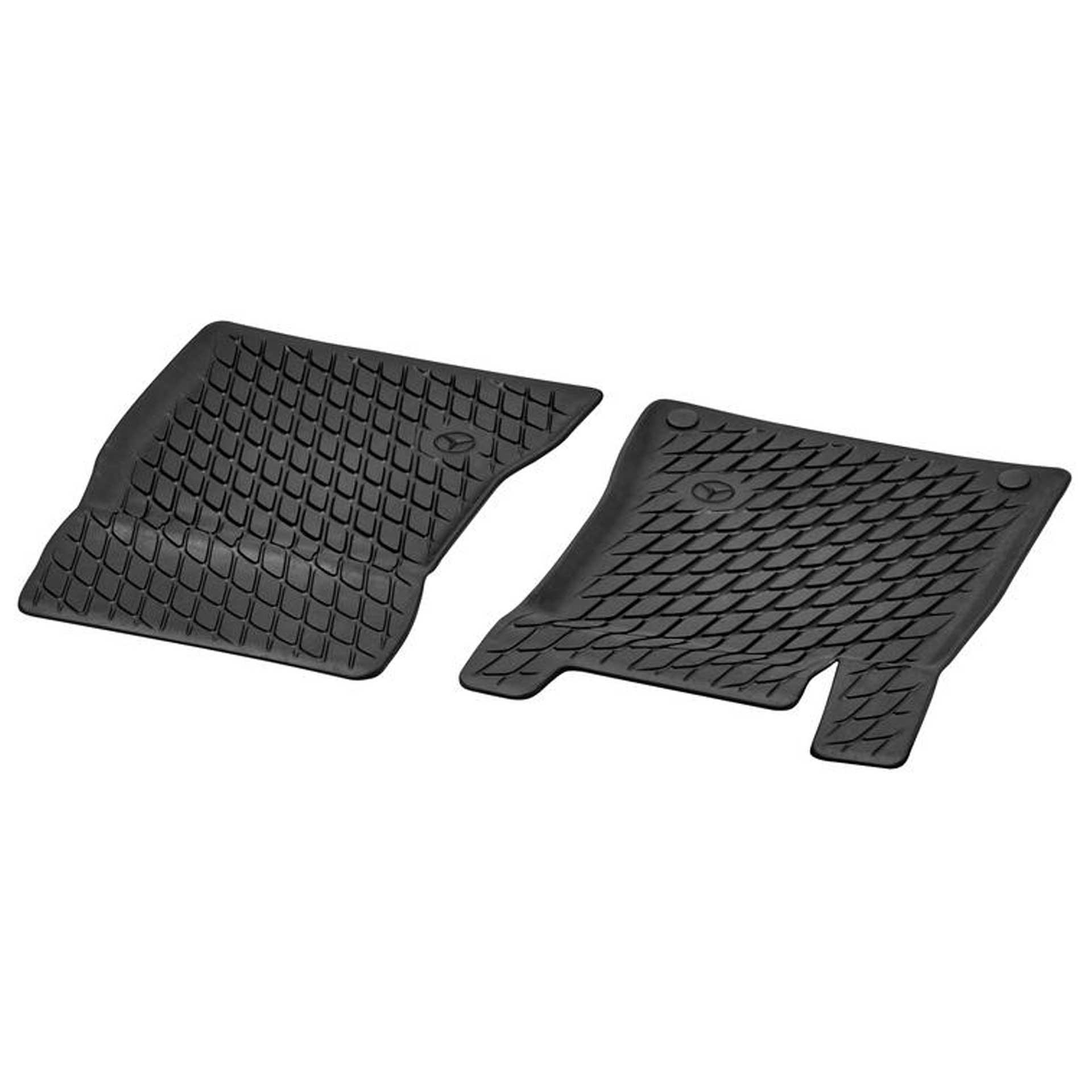 Mercedes-Benz Allwettermatten Dynamic Squares 2-teilig schwarz vorne LL A-/B-Klasse CLA GLA GLB