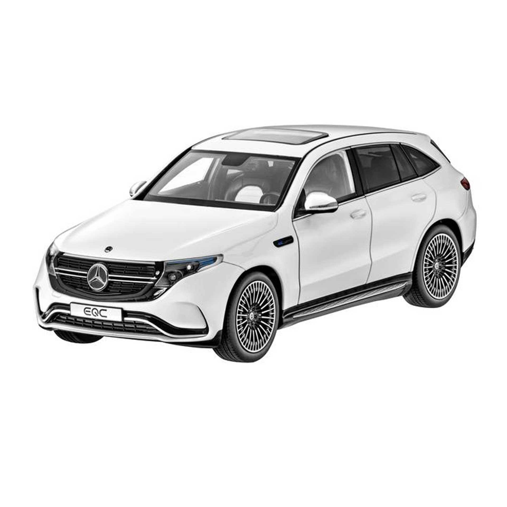 Mercedes-Benz Modellauto EQC N293 1:18 designo diamantweiß bright