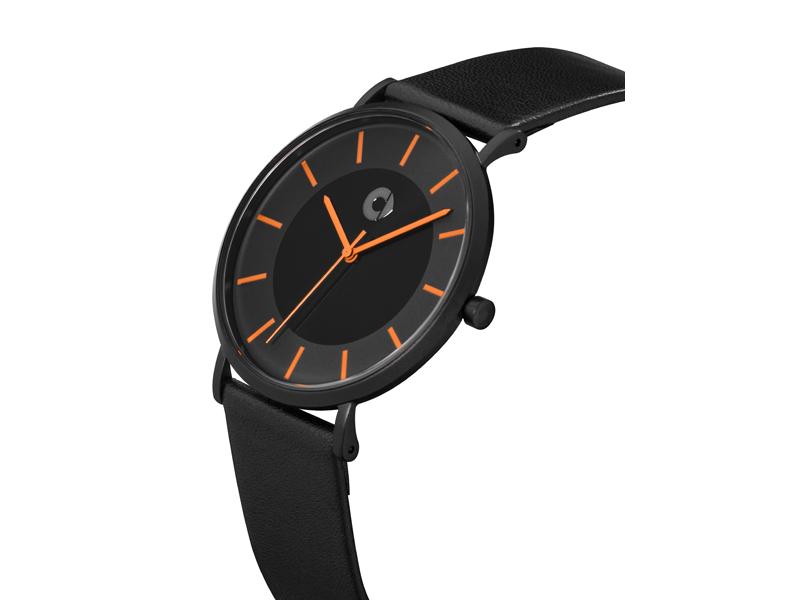 smart Armbanduhr Unisex schwarz/orange