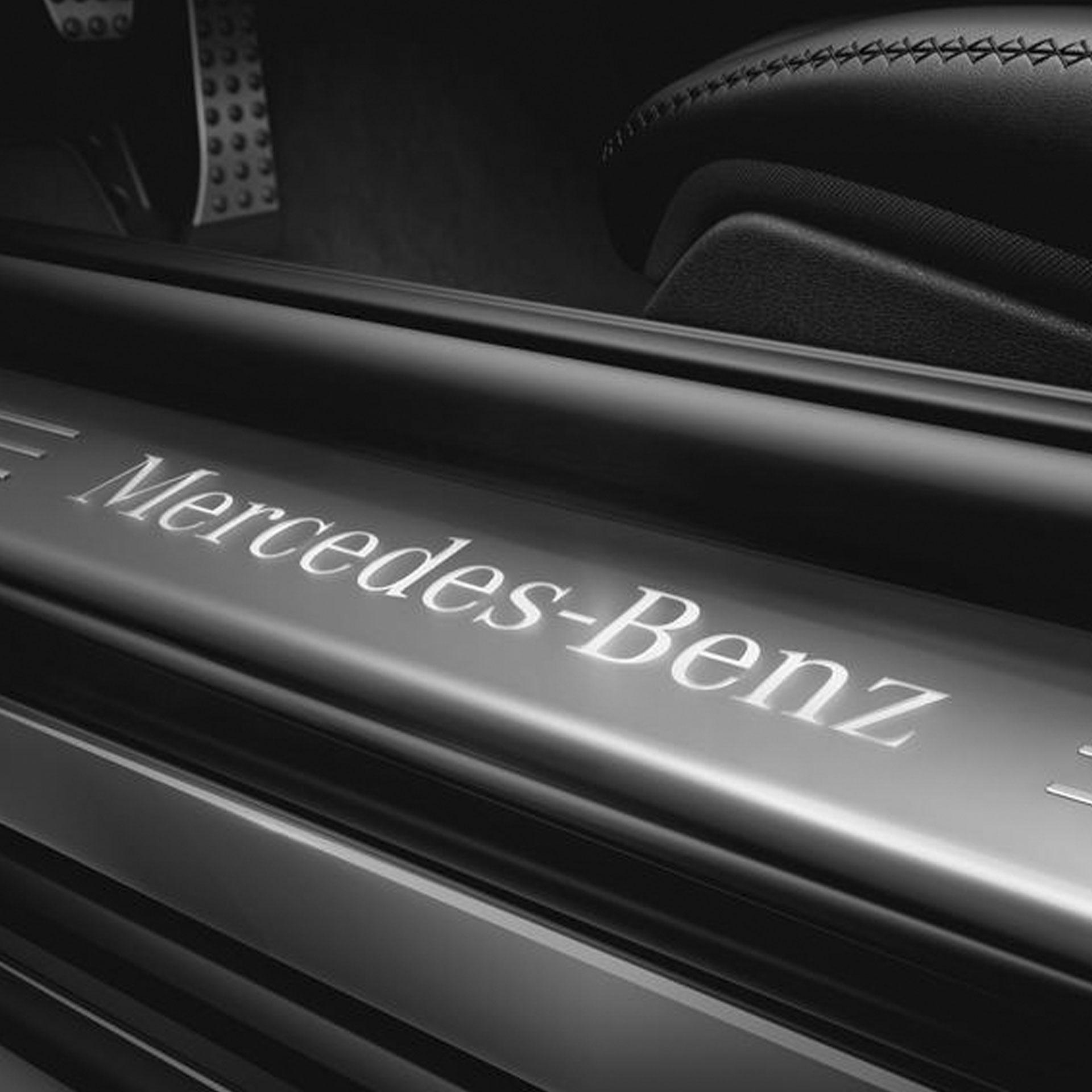 Mercedes-Benz Einstiegsleisten beleuchtet vorne Wechselcover 2-teilig A-Klasse CLA EQA GLA GLB