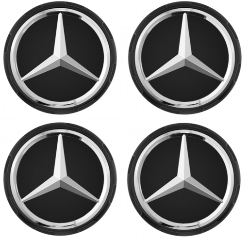 Mercedes-AMG Radnabenabdeckung Zentralverschlussdesign Set 4-teilig