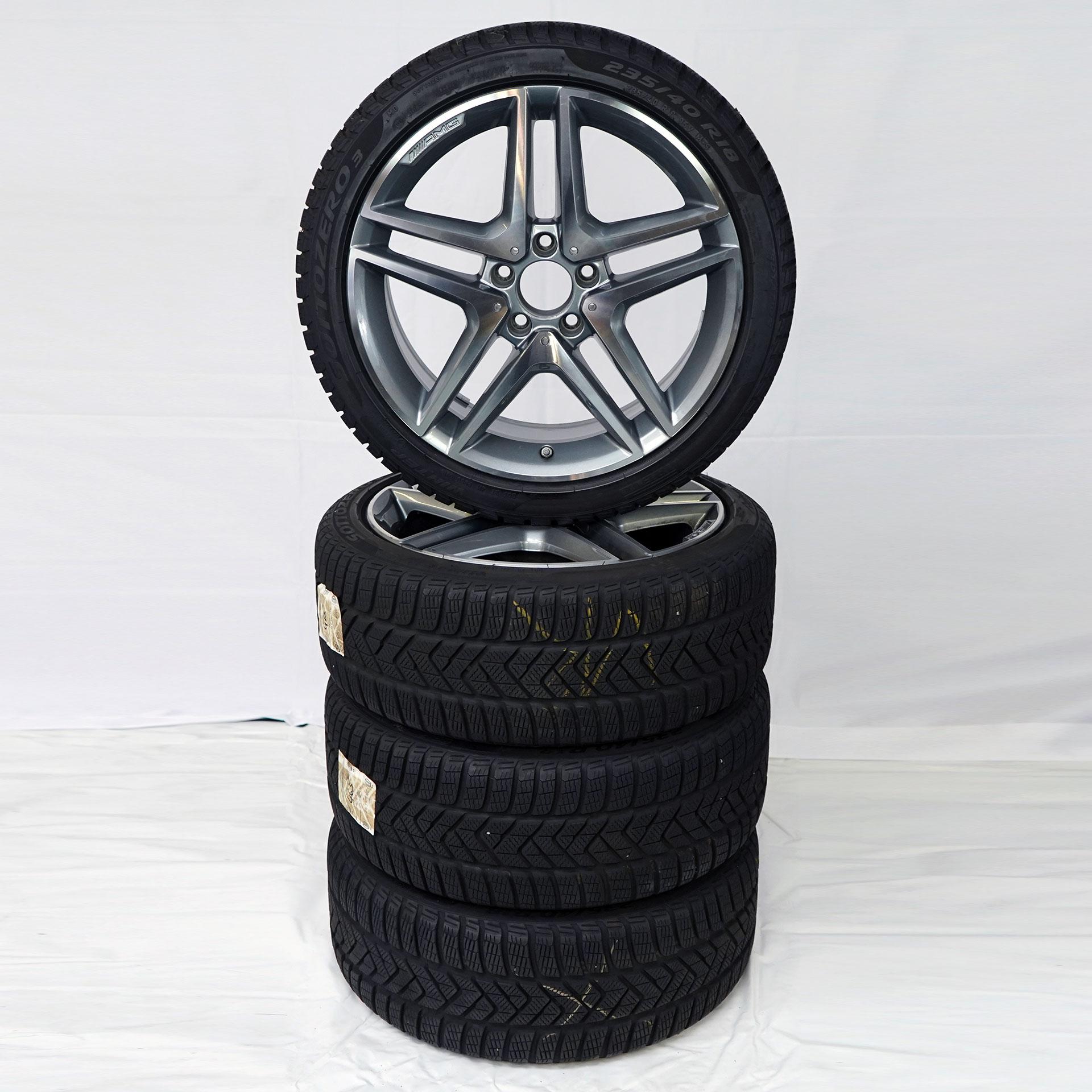 A-Klasse (176) CLA (117) Gebrauchter 18 Zoll Original Mercedes-AMG Winterkomplettrad-Satz Pirelli