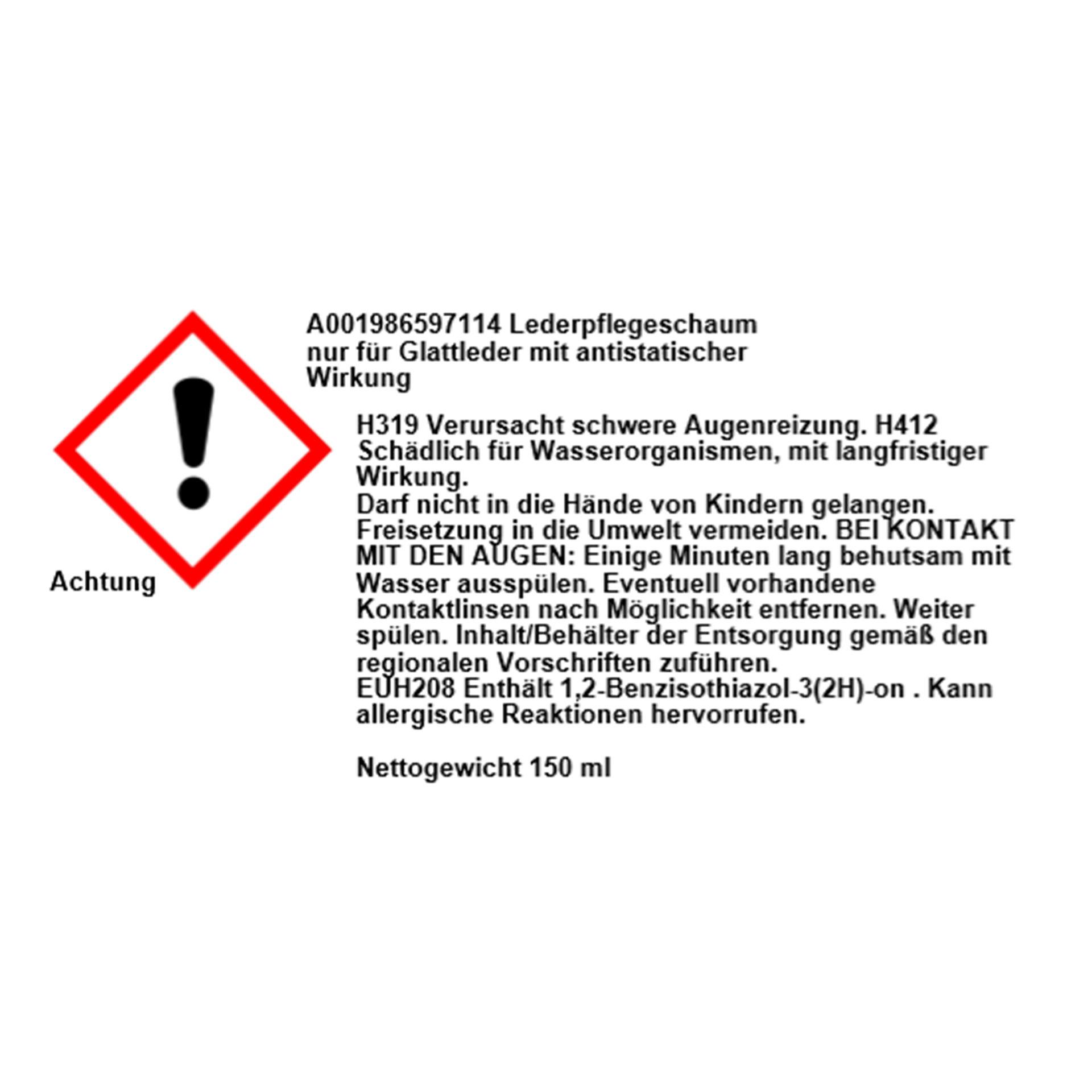 Mercedes-Benz Lederpflegeschaum Lederpflege 150 ml