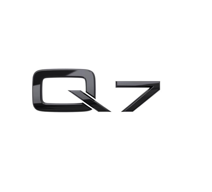 Audi Modellbezeichnung in Schwarz Heck Q7