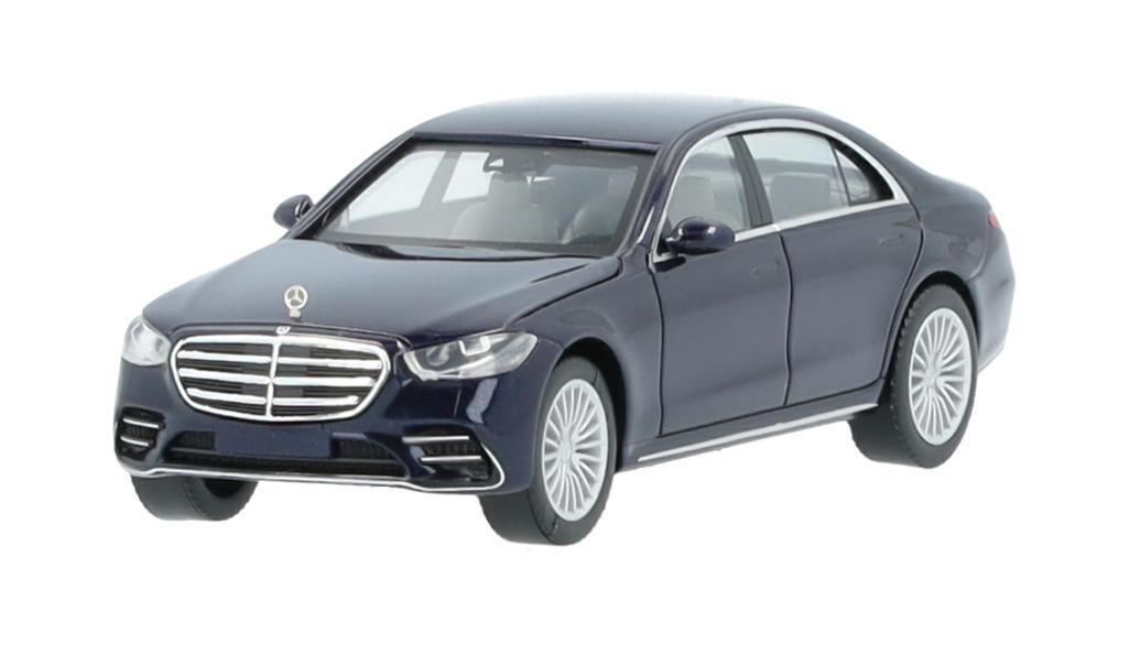 Mercedes-Benz Modellauto S-Klasse V223 1:87 nautikblau