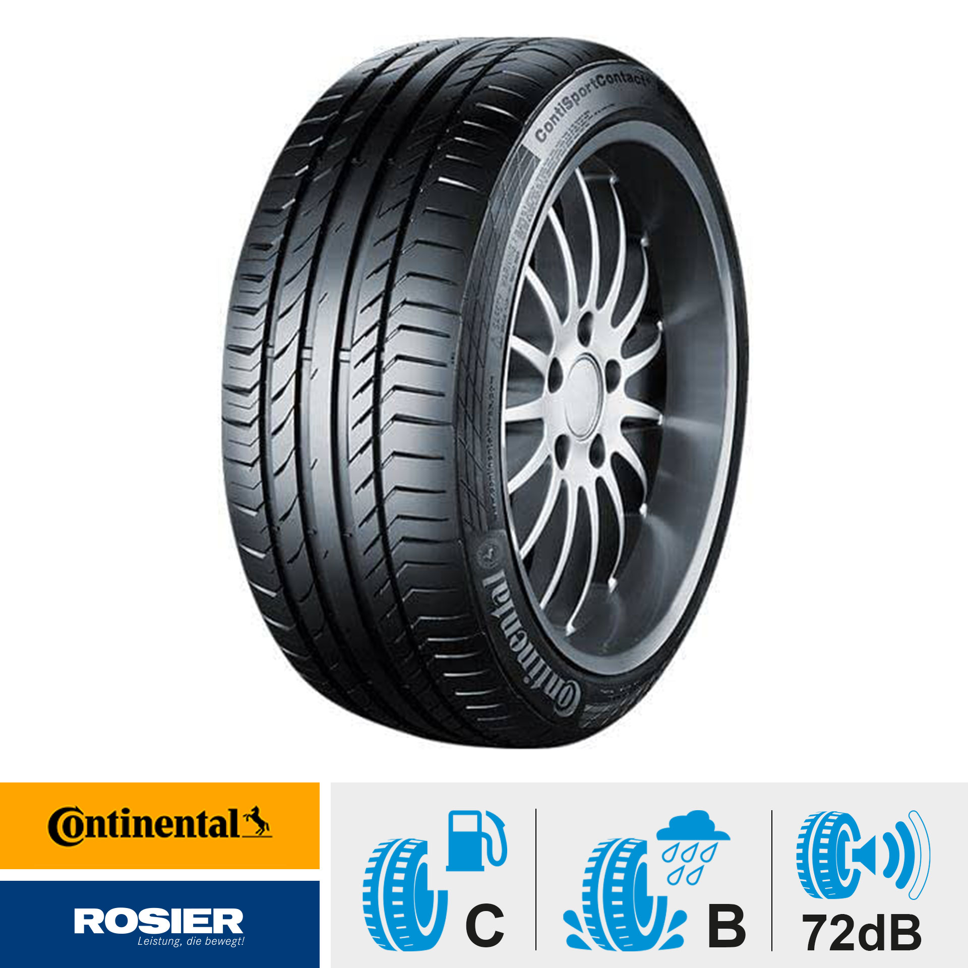 Continental SportContact 5 MO. 225/40 R18 92 Y - Sommerreifen