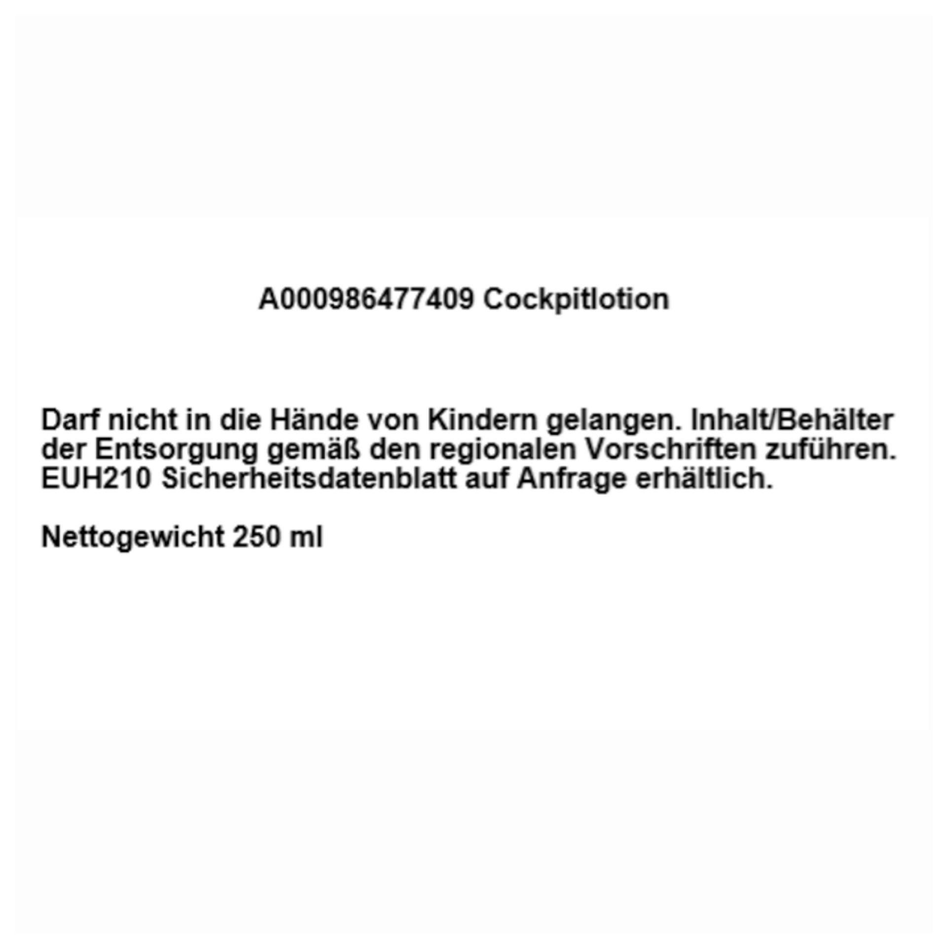 Mercedes-Benz Cockpitlotion 250 ml