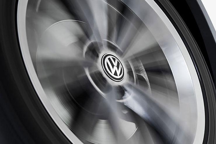 Volkswagen feststehende Radnabendeckel dynamisch Spinnerfunktion