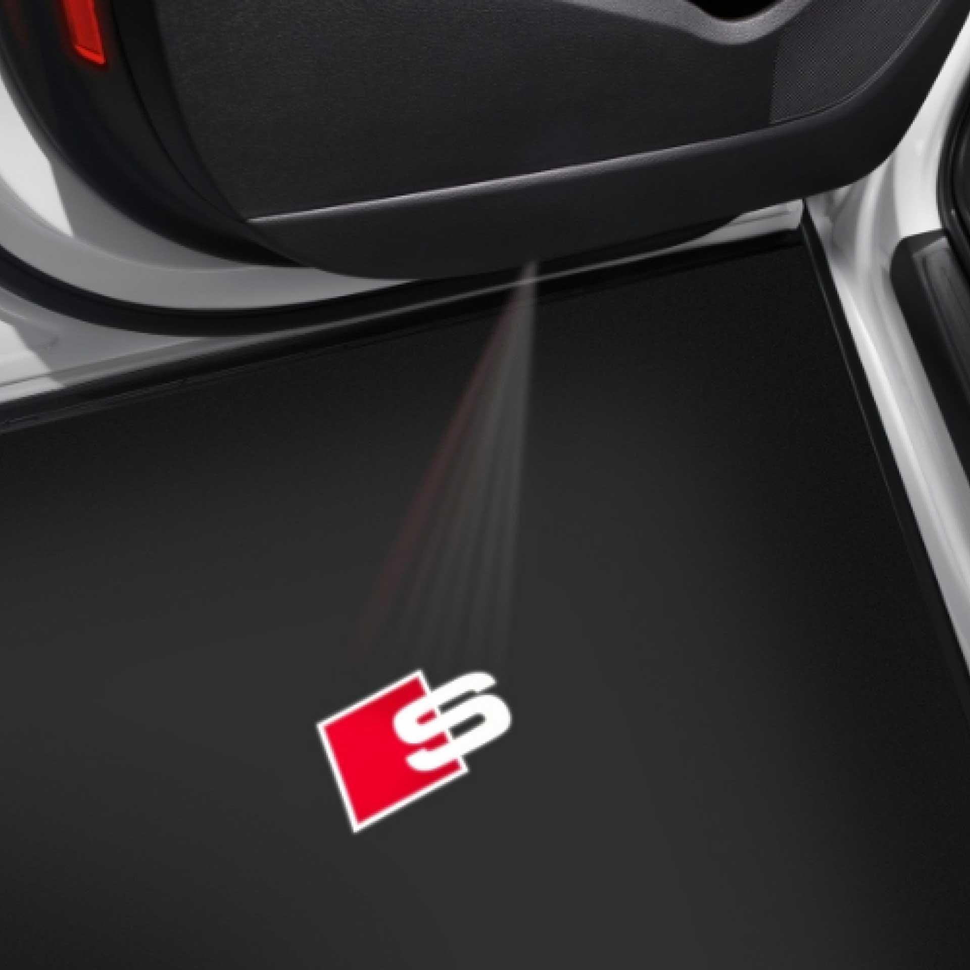 Audi Einstiegs-LED Projektor S-Logo für Fahrzeug mit LED Einstiegsleuchten