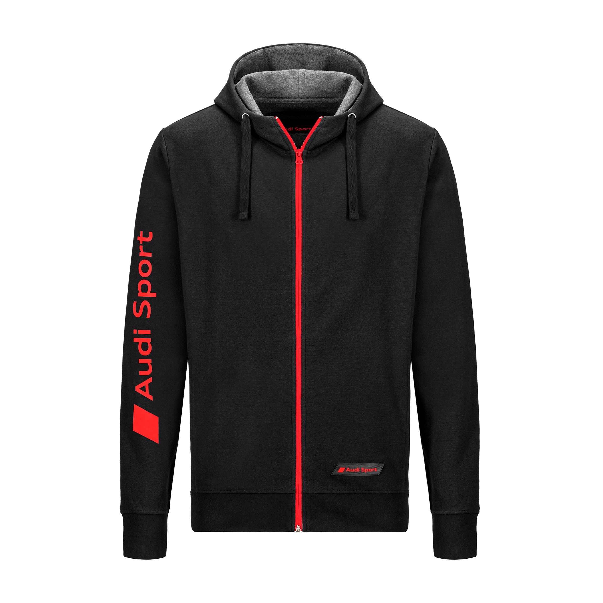 Audi Sport Sweatjacke Herren Größe S schwarz Kapuzen-Sweatshirt