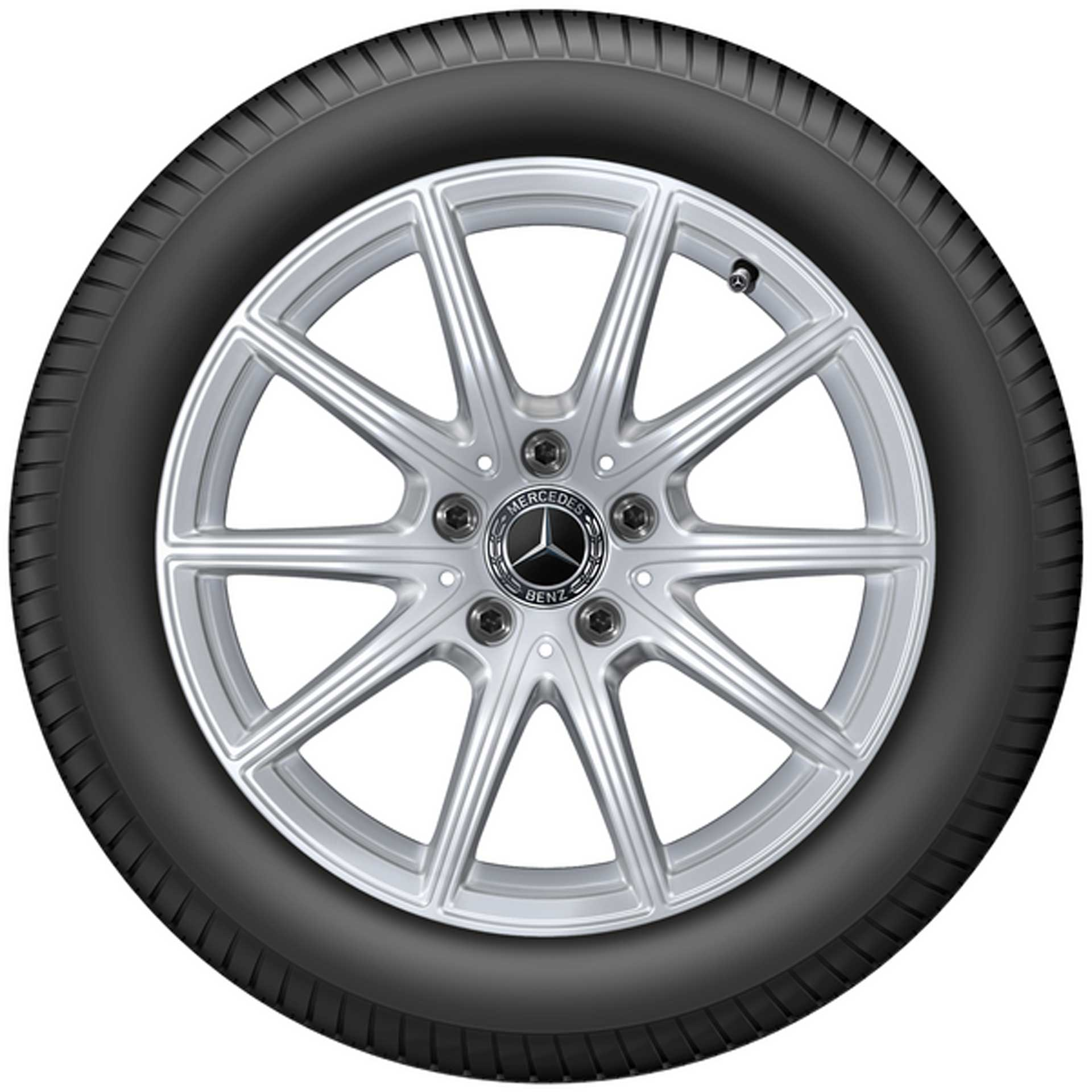 225/50 R17 98H Mercedes-Benz Winterkomplettrad-Satz 10-Speichen Michelin Pilot Alpin 5 MO