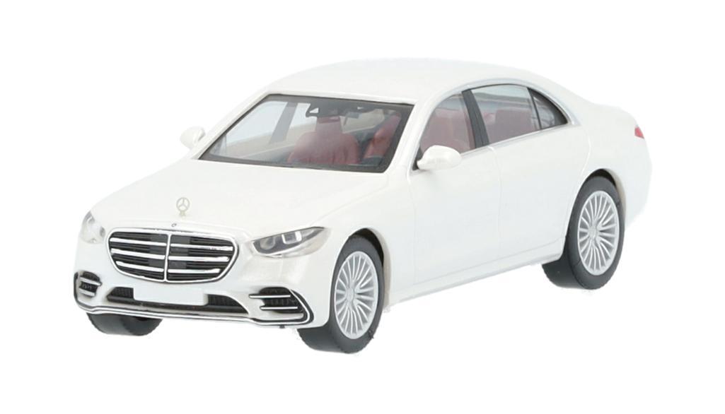 Mercedes-Benz Modellauto S-Klasse V223 1:87 designo diamantweiß bright