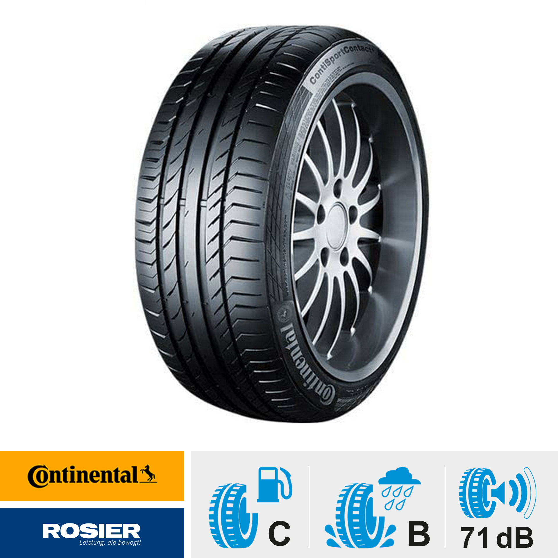 Continental ContiSportContact 5 (FR MO) 245/40 R17 91W