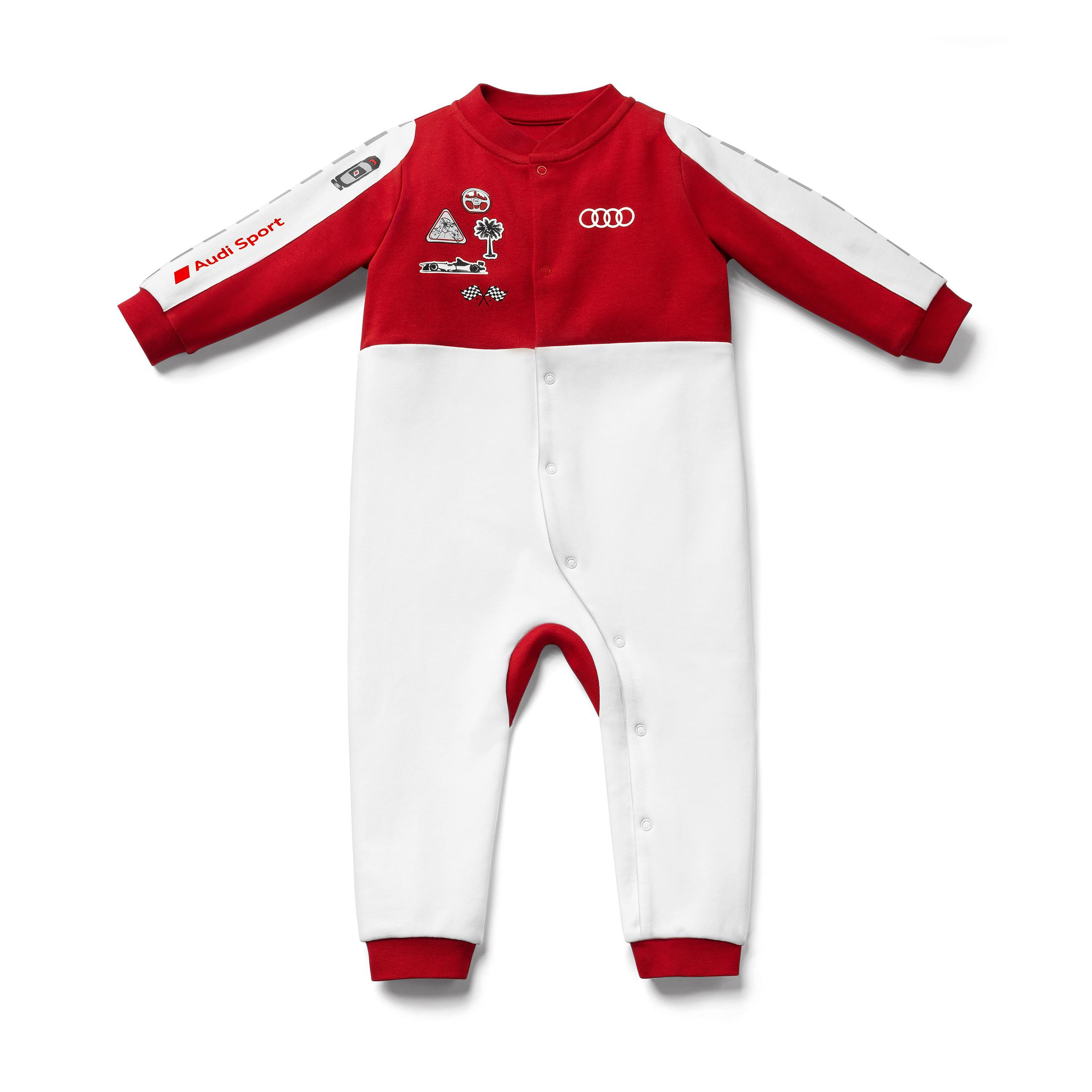 Audi Sport Baby Strampler Racing Größe 62/68 weiß/rot Baumwolle