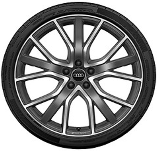 Sommerkomplettrad 5-V-Speichen-Stern-Design Hankook Ventus S1 evo2 SUV mit 255/40 R20 101Y XL / Audi Q3 Felgen