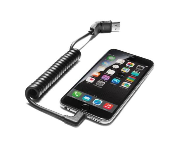 Audi USB-Adapterkabel für mobile Endgeräte mit USB-Type-C™-Buchse gewinkelt