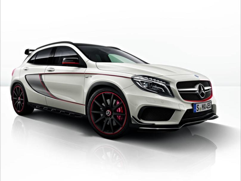 Mercedes-AMG GLA X156  Sportstreifen-Paket Seite ohne Heckschürze