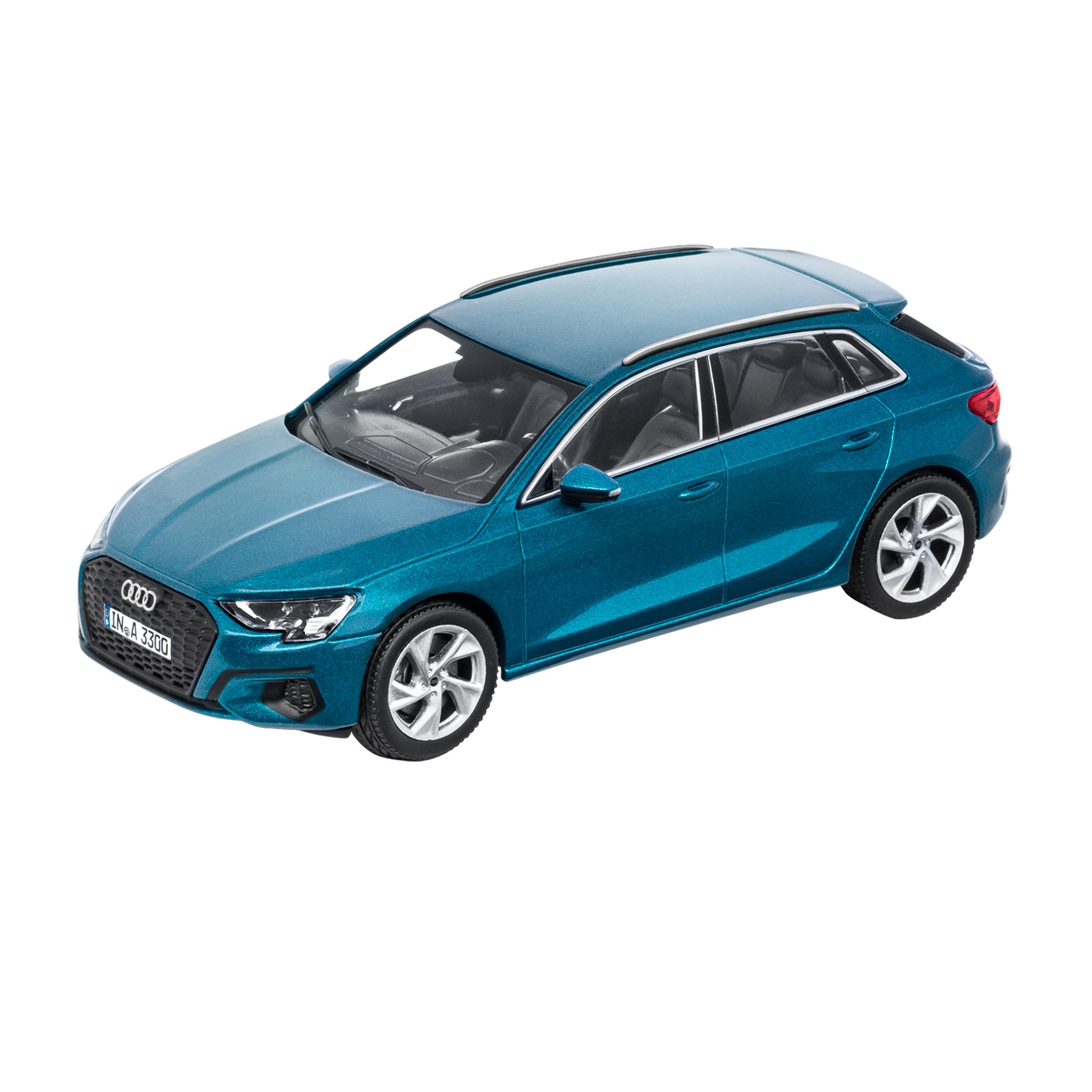 Audi A3 Sportback Atollblau 1:43 Modellauto