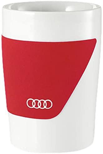 Audi Becher rot 2-er Set Trinkbecher Kaffeebecher Teetasse