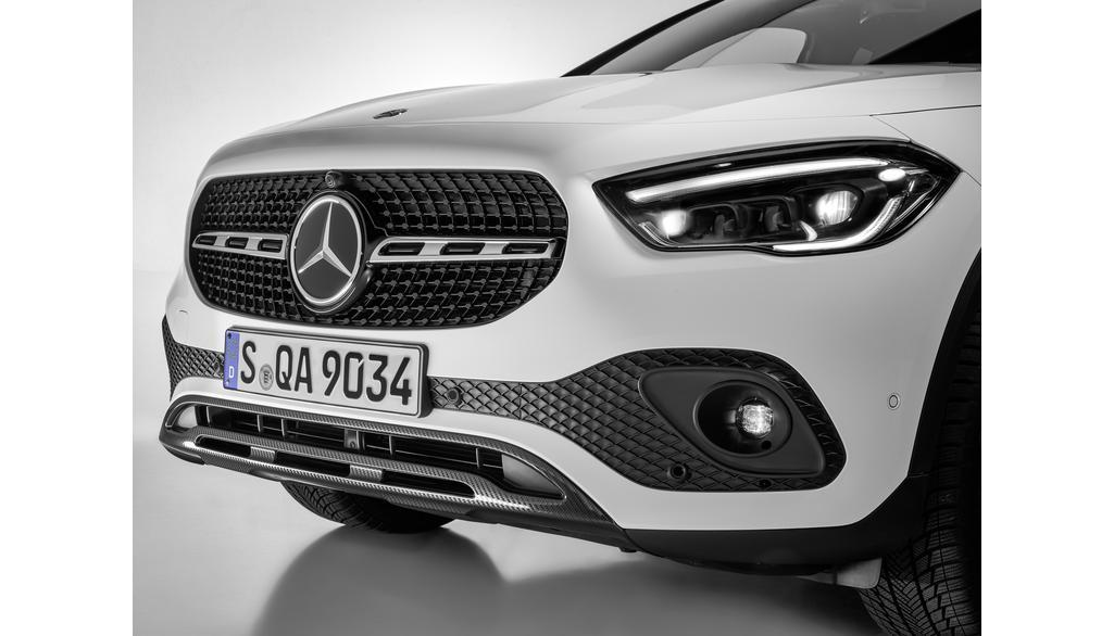 Mercedes-Benz Frontzierleiste Carbon Style für GLA & EQA