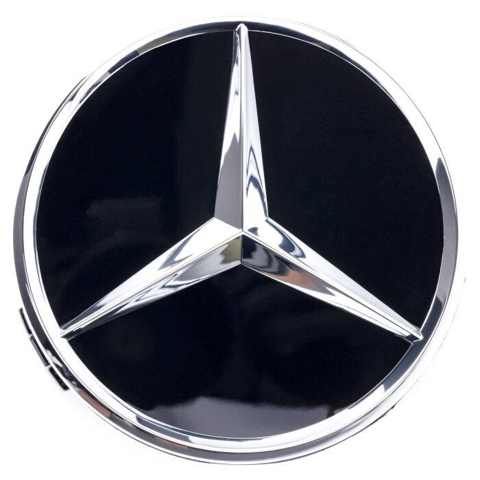 Mercedes-Benz Radnabenabdeckung Stern erhaben schwarz