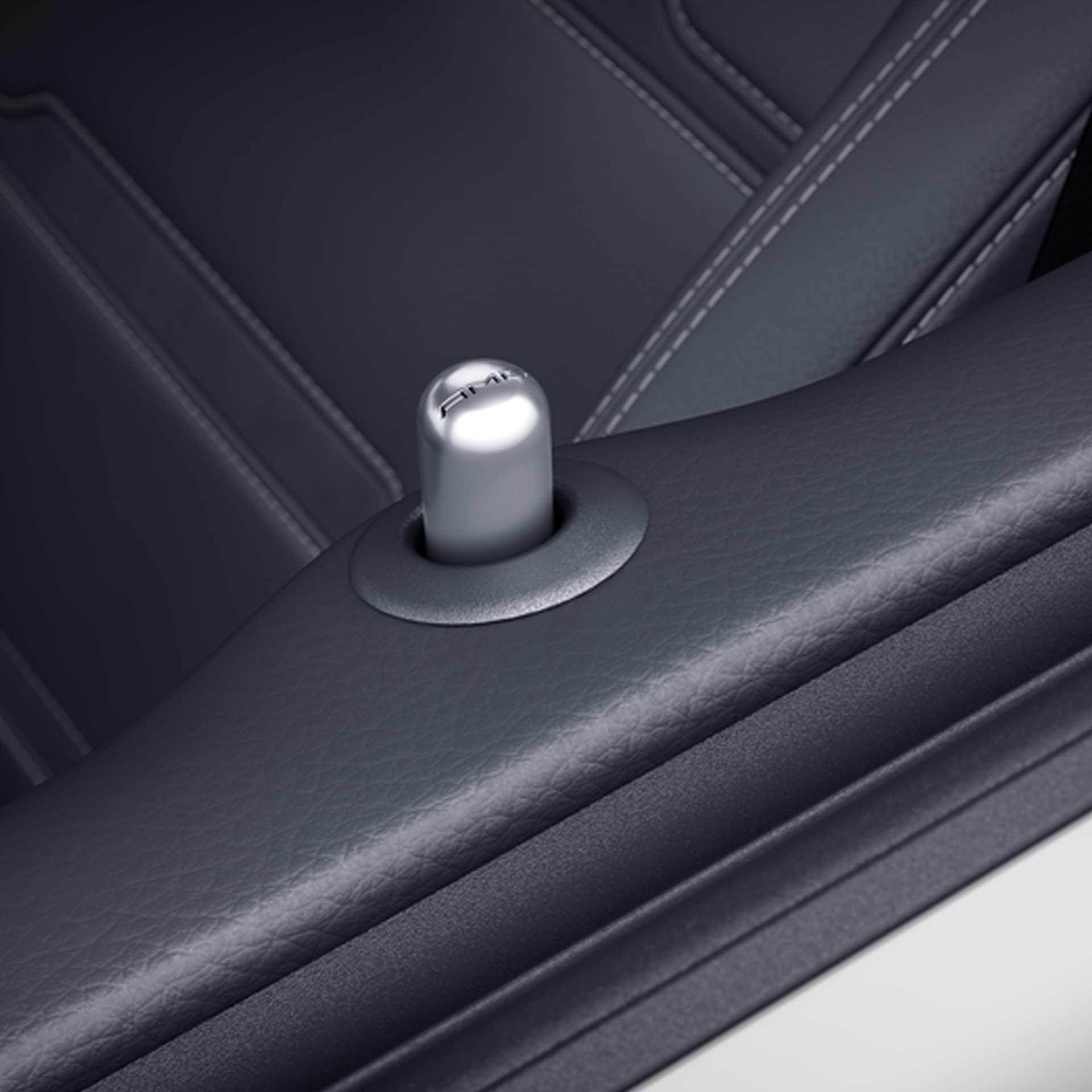 Mercedes-AMG Tür-Pin rund Edelstahl gebürstet
