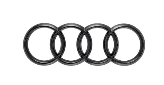 Audi Ringe in Schwarz für das Heck für Audi TT