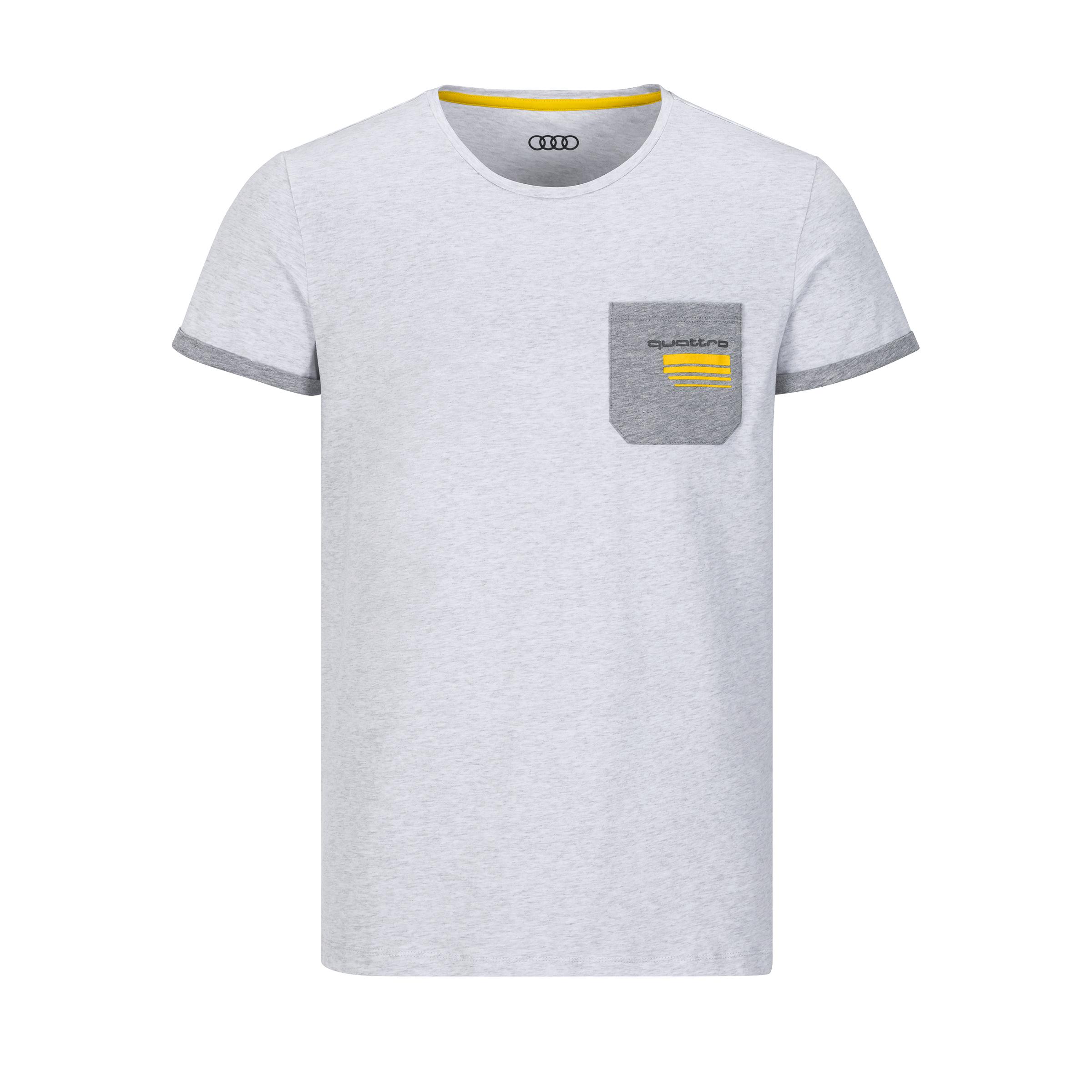 Audi quattro T-Shirt Herren Größe L hellgrau
