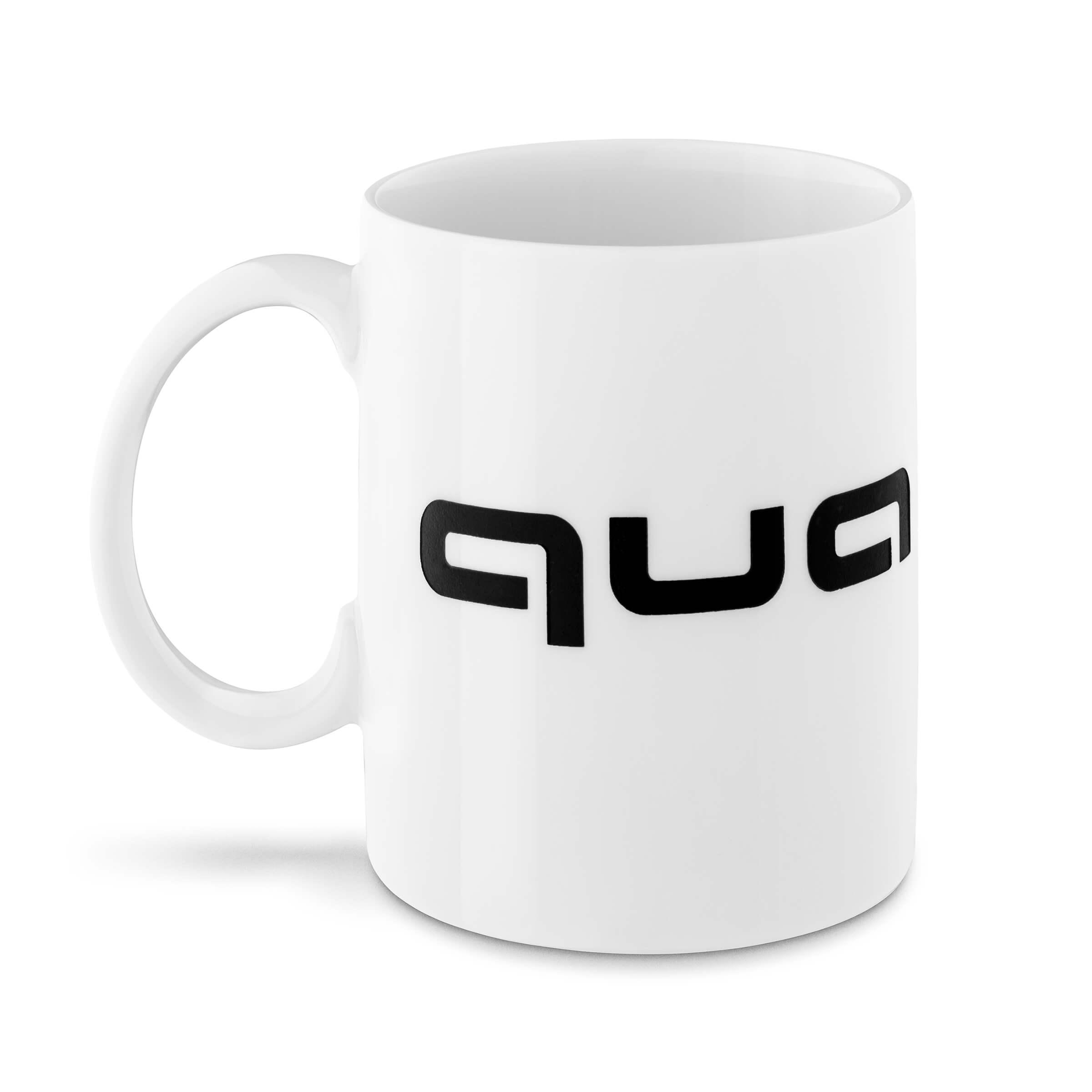 Audi quattro Becher Kaffeebecher Teetasse Tasse weiß/schwarz