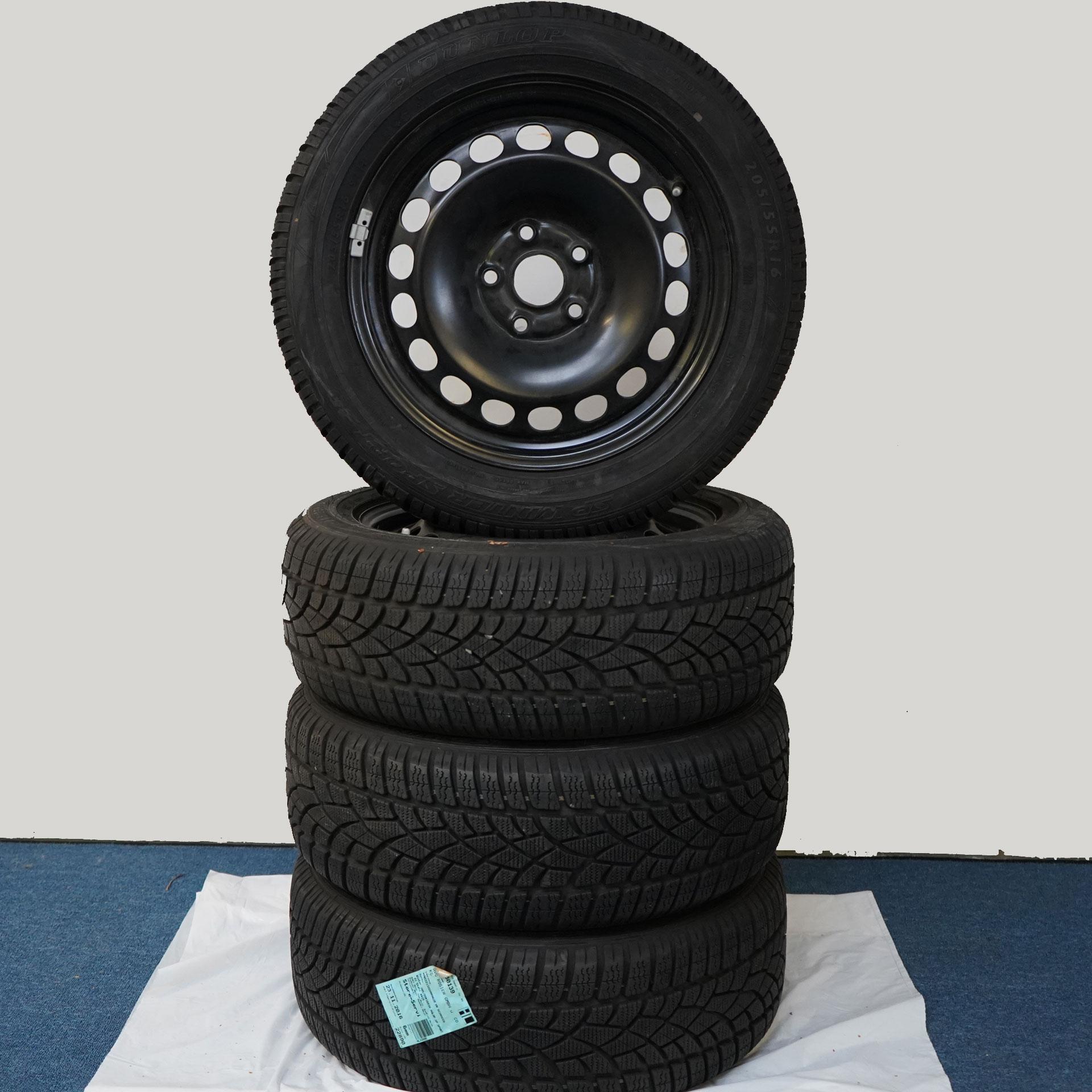 Gebrauchter 16 Zoll Original Volkswagen Winterkomplettrad-Satz VW Scirocco Dunlop