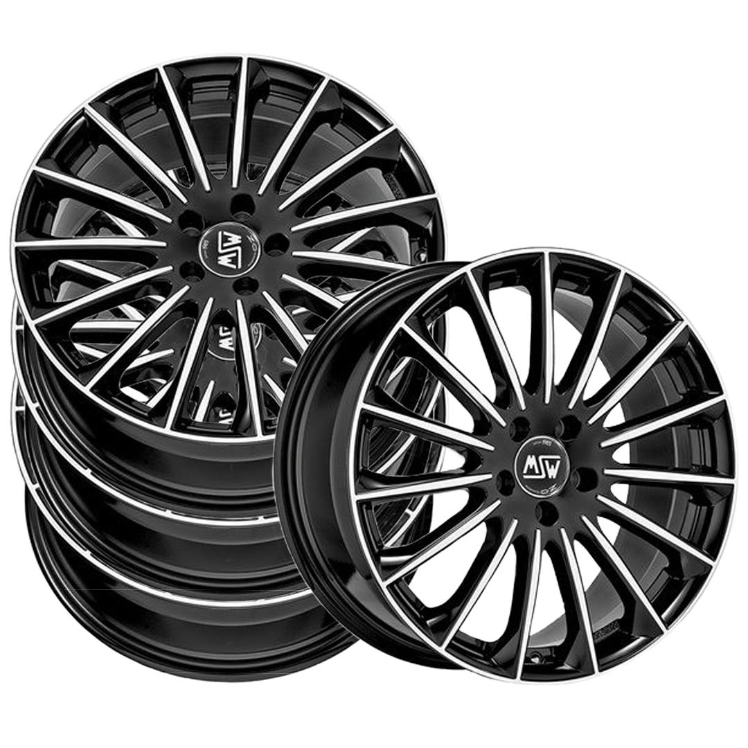 Leichtmetallfelge MSW 30 gloss black full polish in 17 Zoll  4er-Set