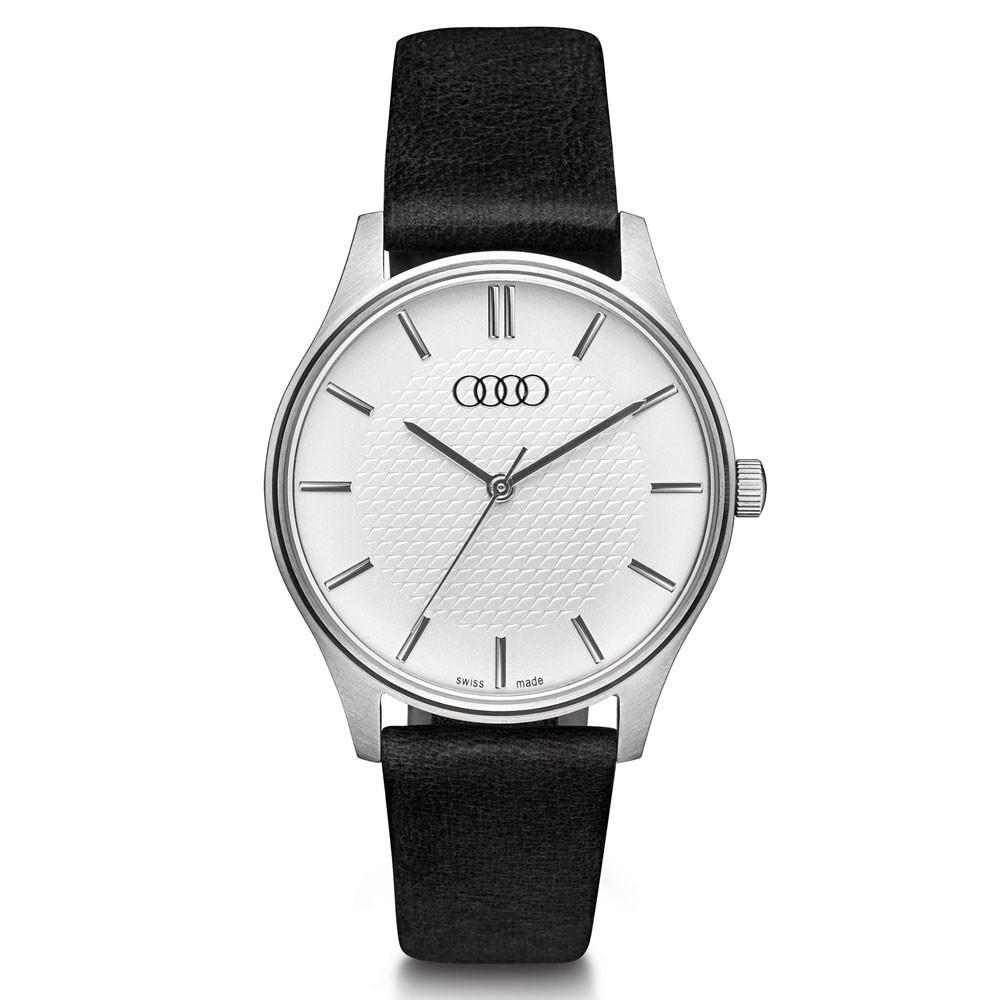Audi Armbanduhr Damen silber/schwarz