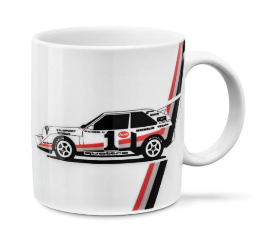 Audi heritage Tasse Kaffeebecher Teebecher Teetasse weiß