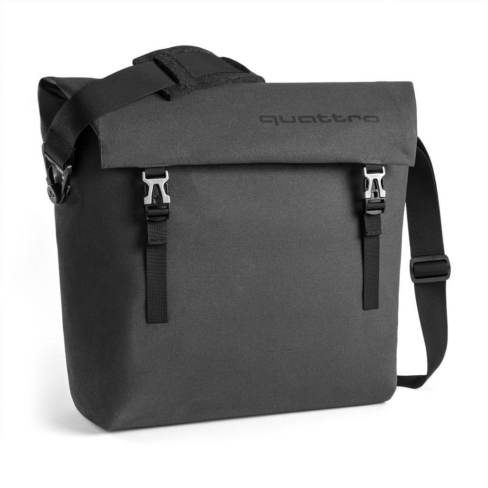 Audi quattro Messenger Bag dunkelgrau Umhängetasche Schultertasche