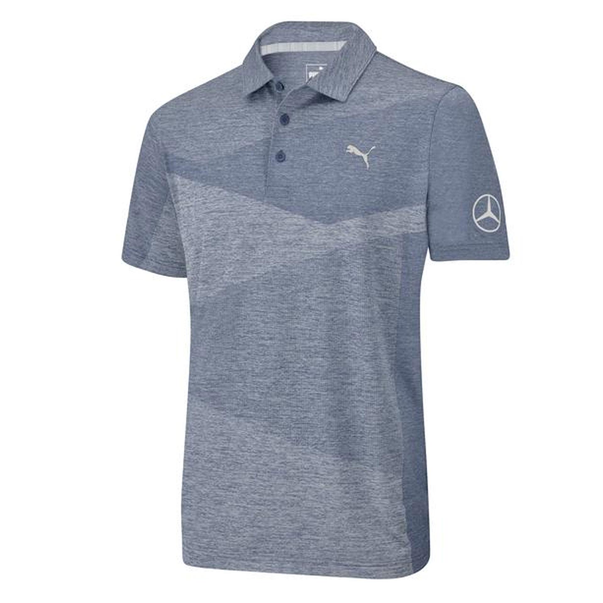 Mercedes-Benz Golf-Poloshirt Herren blau by PUMA Poloshirt