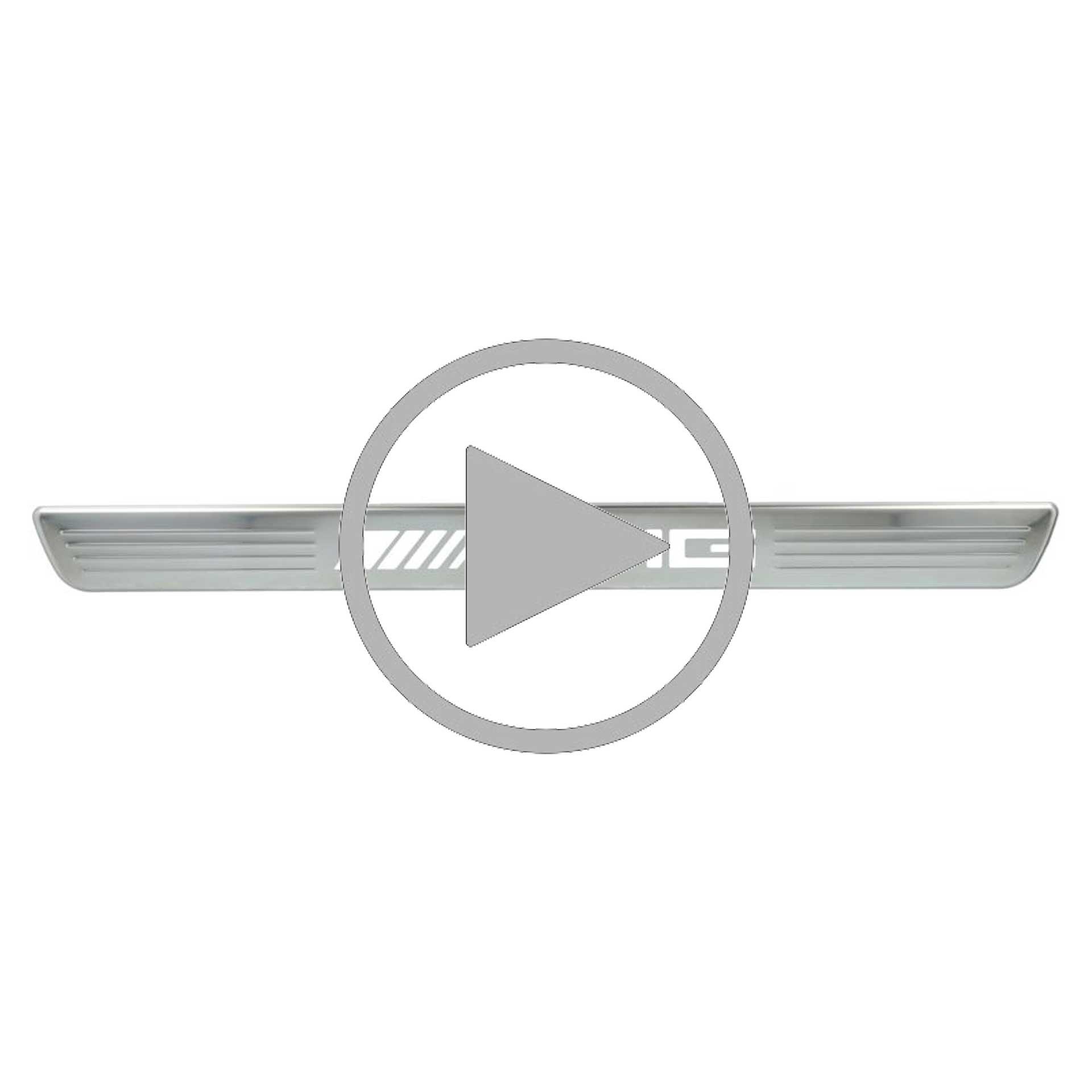 Mercedes-AMG Einstiegsleisten beleuchtet vorne Wechselcover 2-teilig A-Klasse CLA EQA GLA GLB GLE GLS